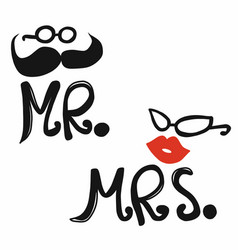 mr and mrs icon vector image