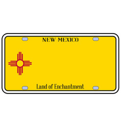 new mexico state license plate vector image