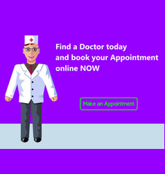 Online medicine doctor s appointment web banner vector
