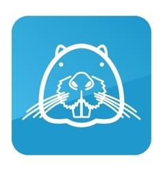 Otter beaver icon Animal head vector