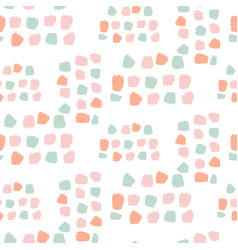 pastel color dots abstract seamless pattern vector image