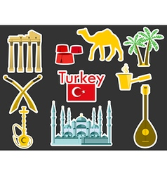 Patches elements Turkey vector image