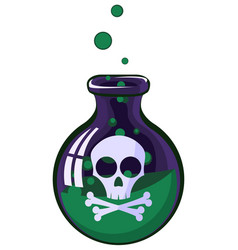 poison jar vector image