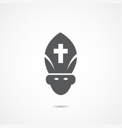pope flat icon vector image