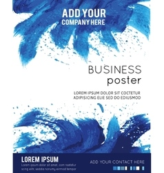 Poster Template with Watercolor Paint vector image