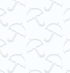 Quilling paper umbrellas vector