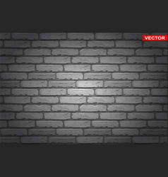 realistic dark gray brick wall texture background vector image