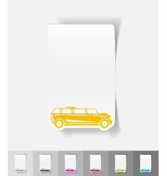 Realistic design element limousine vector