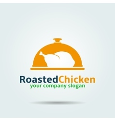 Roasted chicken logo vector