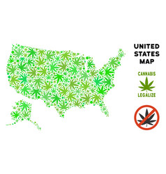 Royalty free cannabis leaves mosaic usa with vector