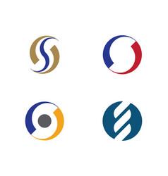 s letter logo design vector image