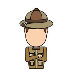 Safari hunter design vector