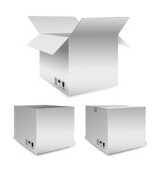 Set of packing boxes open and closed vector