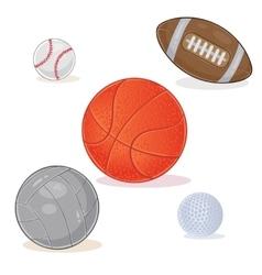 set sports balls isolated on white background vector image