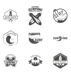 Set surfing logo vector