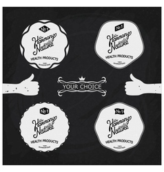 Set vintage labels on the theme of nature vector image