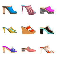 Set with women shoes vector