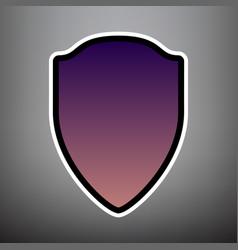 shield sign violet gradient vector image