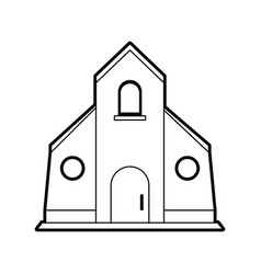 Sketch silhouette image church building vector