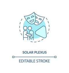 Solar plexus turquoise concept icon vector
