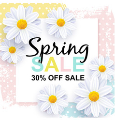 Spring sale banner design template vector