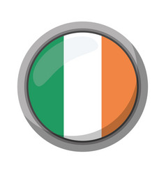 St patricks day irish flag emblem vector