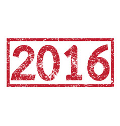 stamp text 2016 vector image