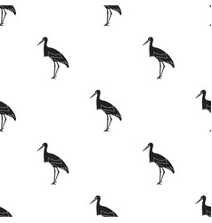 Stork icon in black style isolated on white vector