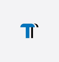 t letter logo element icon vector image