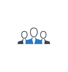 teamwork related glyph icon vector image
