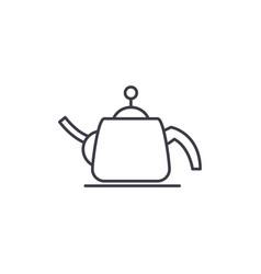 teapot line icon concept teapot linear vector image
