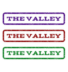 The valley watermark stamp vector