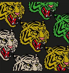 tigers pattern set vector image