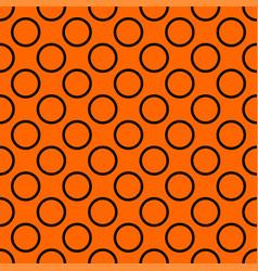 tile pattern with big black polka dots on orange vector image