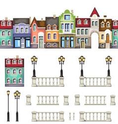 Town street vector