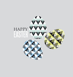 Tribal geometry concept easter egg decoration of vector