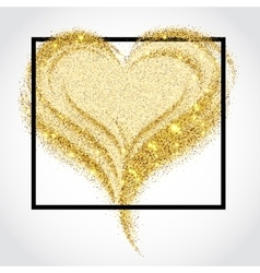 Valentines day Sparkle card 1 vector image