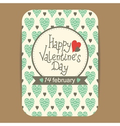 Valentines greeting or party invit card vector