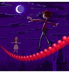 valentines night vector image