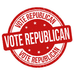 vote republican sign or stamp vector image