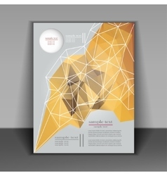 Abstract brochure design with geometric patterns vector image