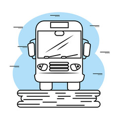 Hand-drawn bus icon vector