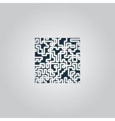 Labyrinth Puzzle rebus icon vector image vector image