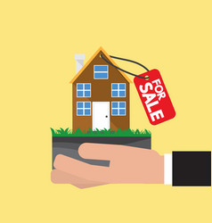 real estate for sale vector image vector image