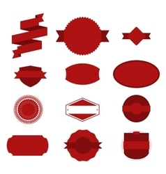 Red Christmas Labels Set on white Background vector image vector image