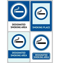 Label set Smoking area vector image vector image