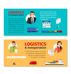 logistics and transportation banners vector image vector image
