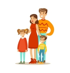 Mom Dad And Children Happy Family Having Good vector image vector image