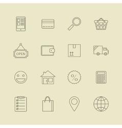 Navigation buttons for online internet store vector image vector image