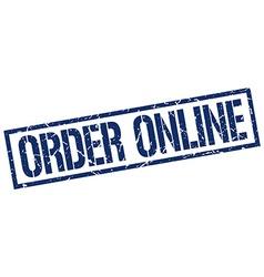 order online stamp vector image